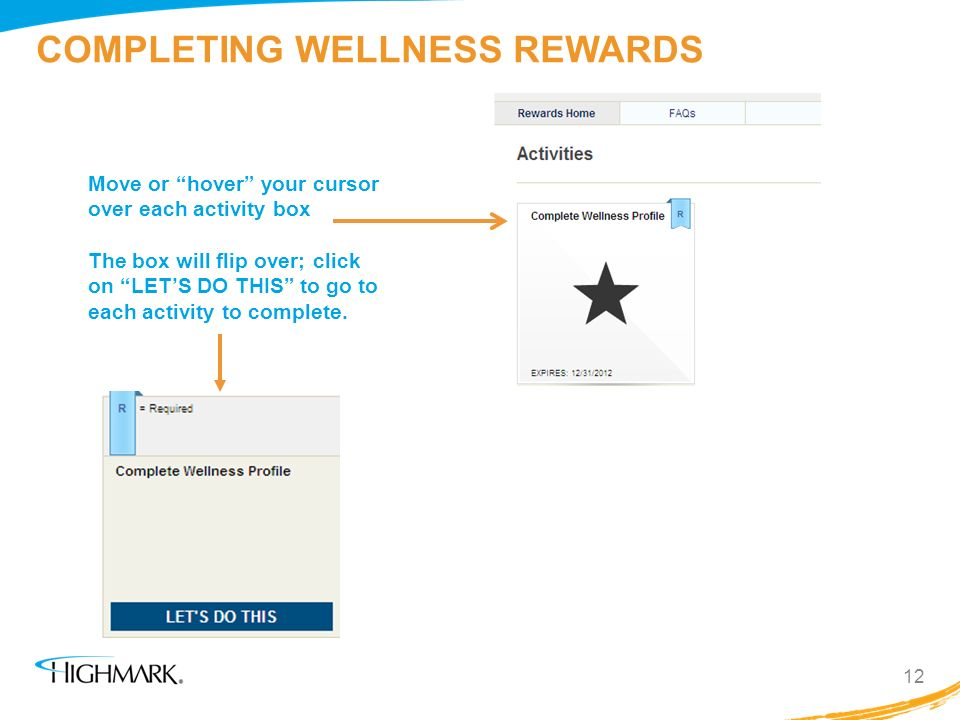 COMPLETING WELLNESS REWARDS