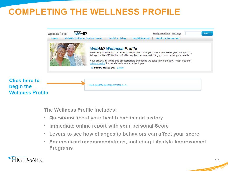 COMPLETING THE WELLNESS PROFILE
