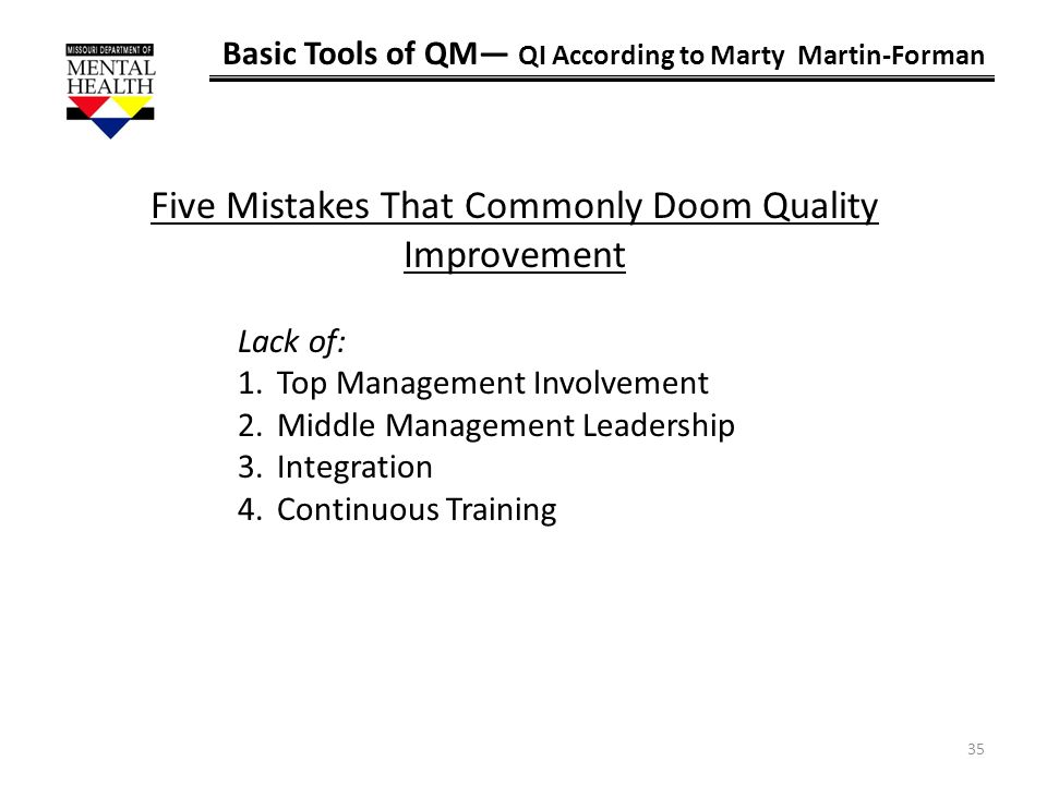 Five Mistakes That Commonly Doom Quality Improvement