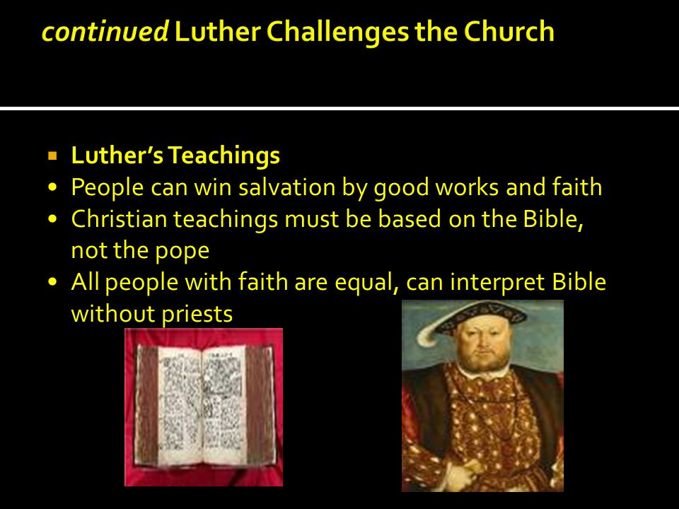 continued Luther Challenges the Church