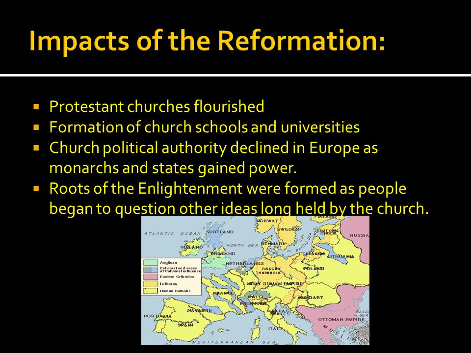 Impacts of the Reformation: