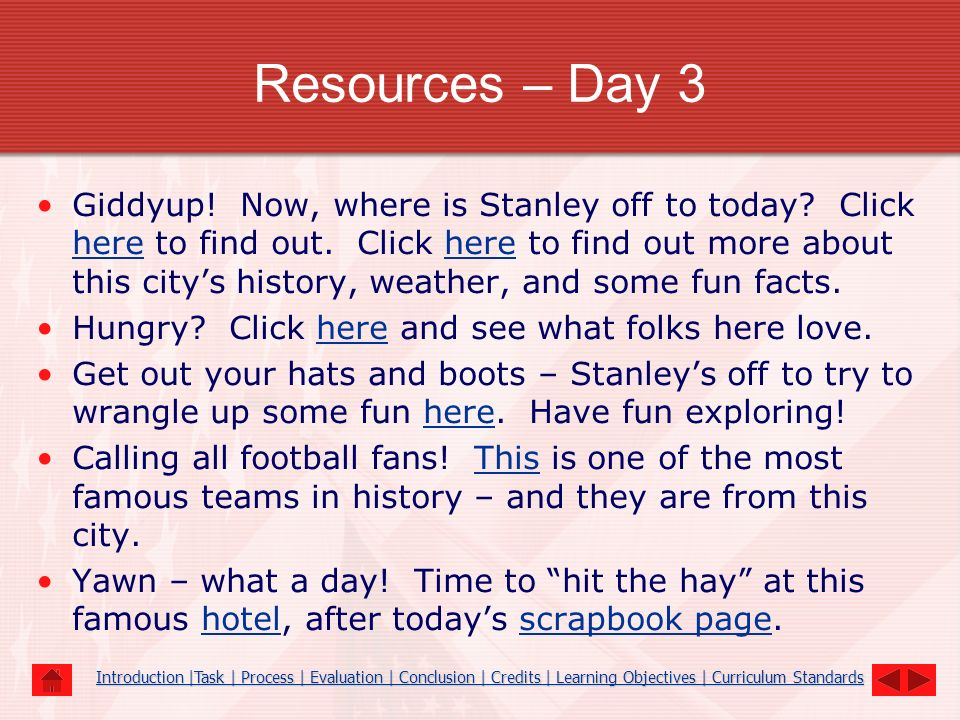 Resources – Day 3