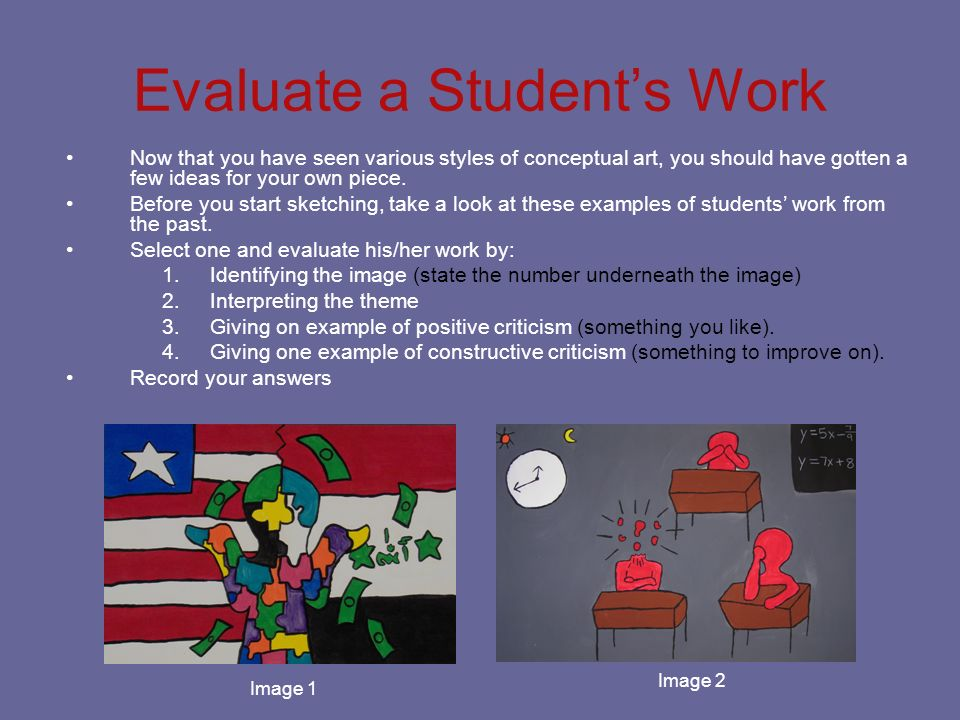 Evaluate a Student's Work