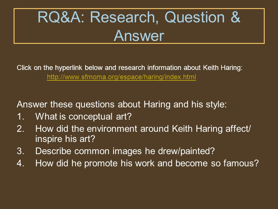 RQ&A: Research, Question & Answer