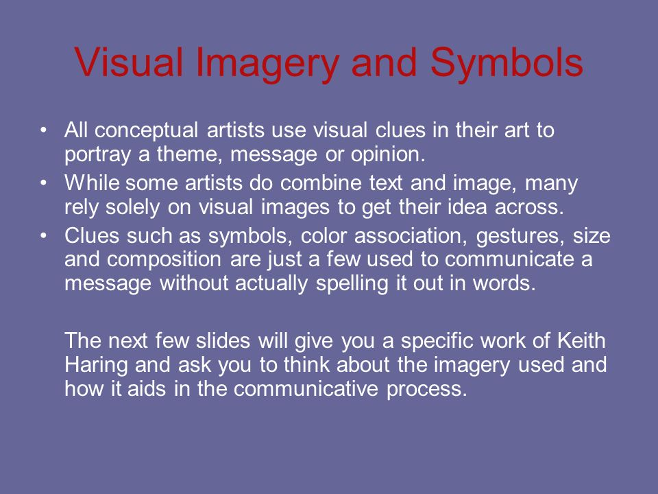 Visual Imagery and Symbols