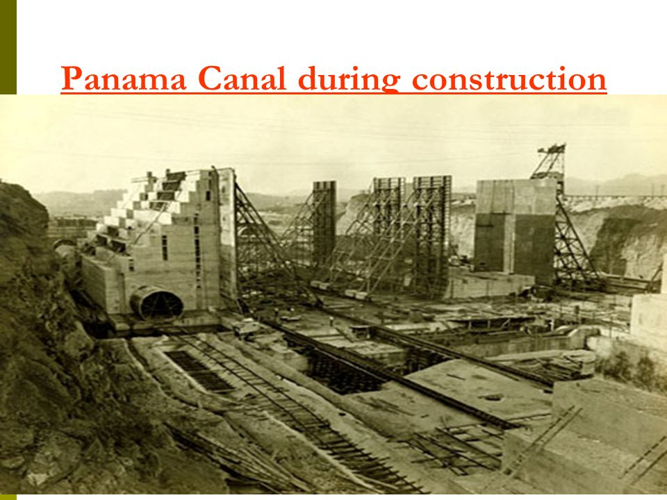 Panama Canal during construction