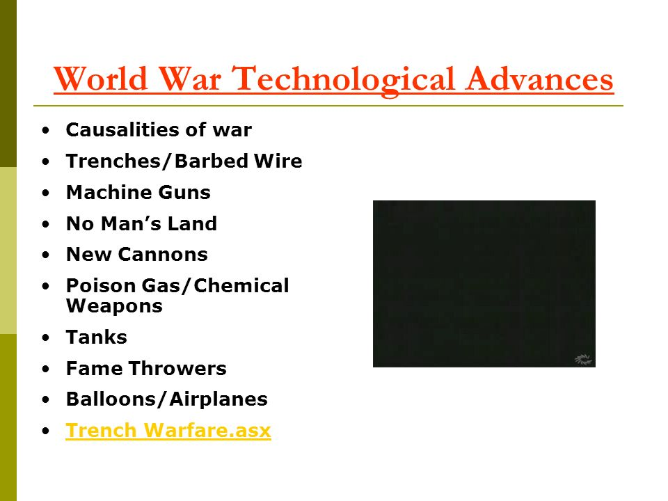World War Technological Advances