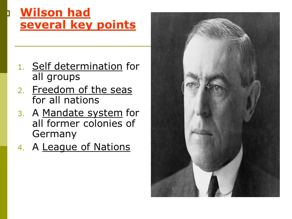 Wilson had several key points
