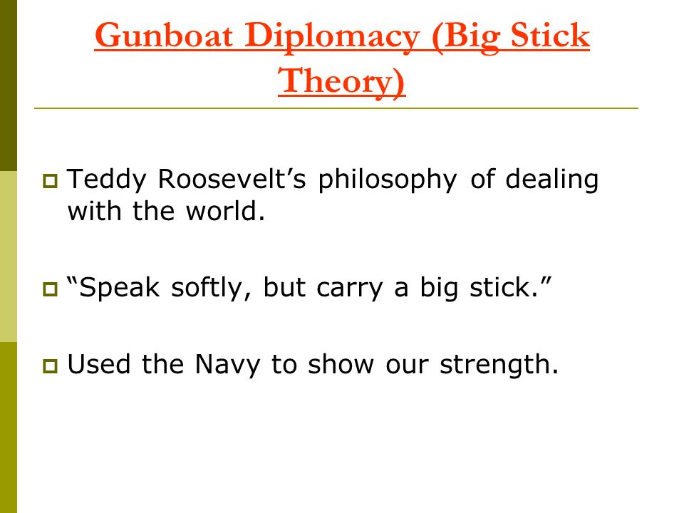 Gunboat Diplomacy (Big Stick Theory)