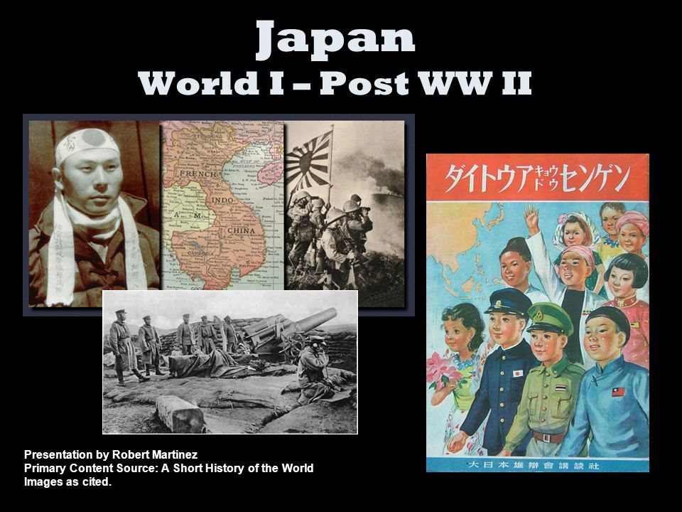 Japan World I – Post WW II