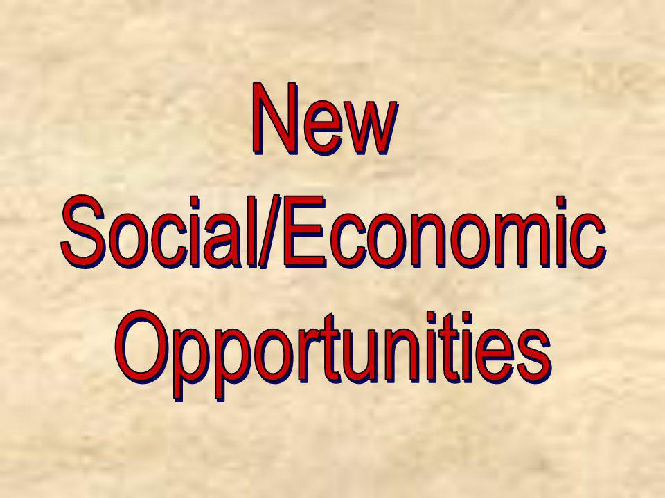 New Social/Economic Opportunities