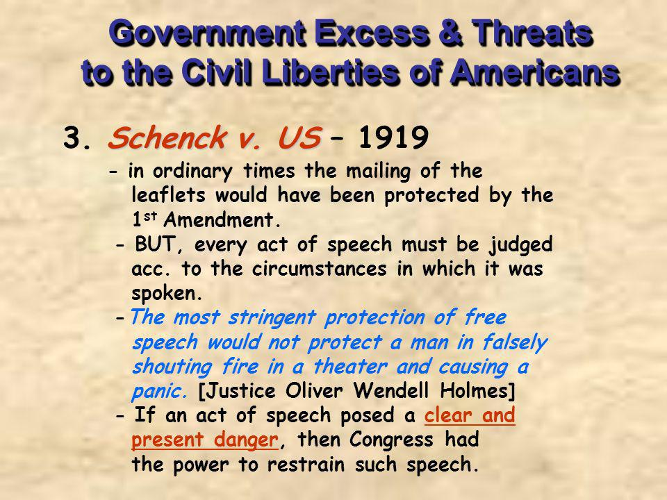 Government Excess & Threats to the Civil Liberties of Americans