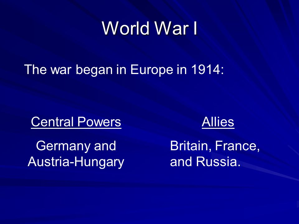 Germany and Austria-Hungary