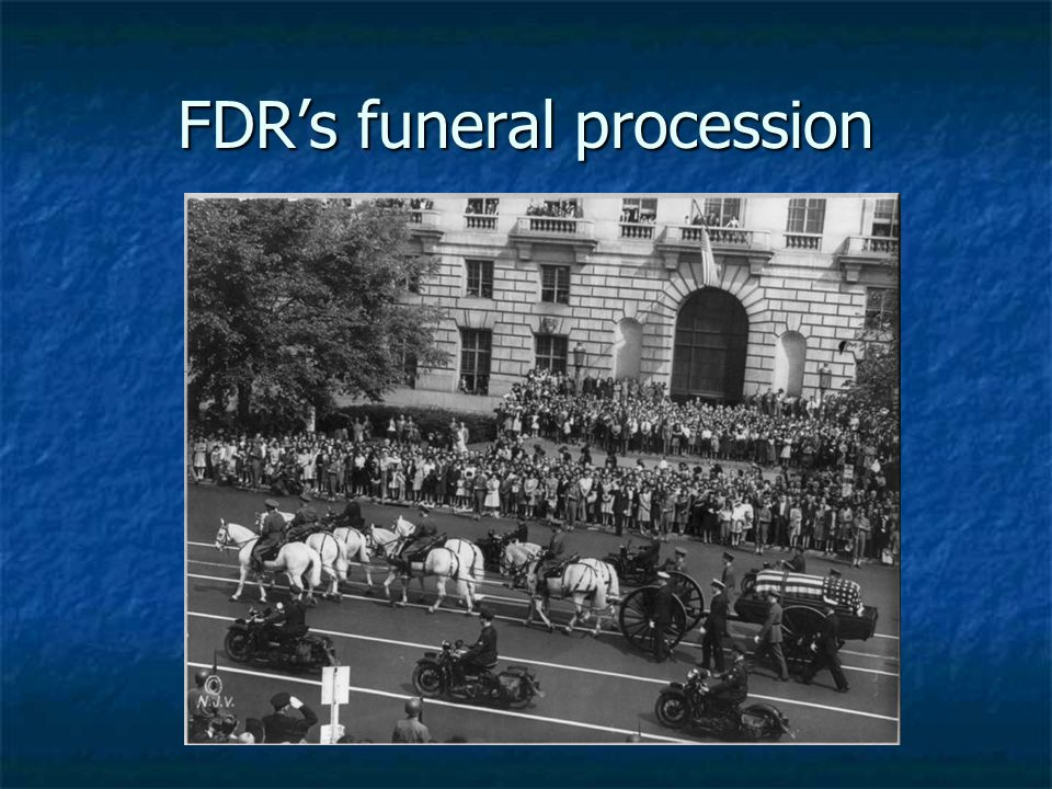 FDR's funeral procession