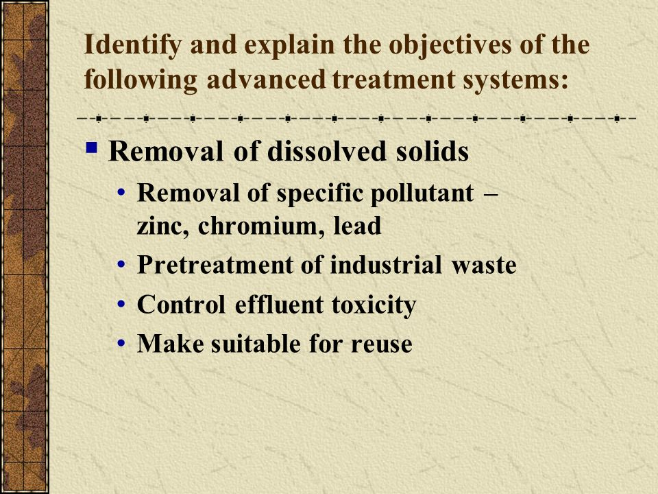 Removal of dissolved solids