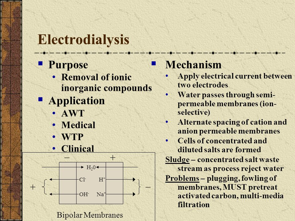 Electrodialysis Purpose Application Mechanism