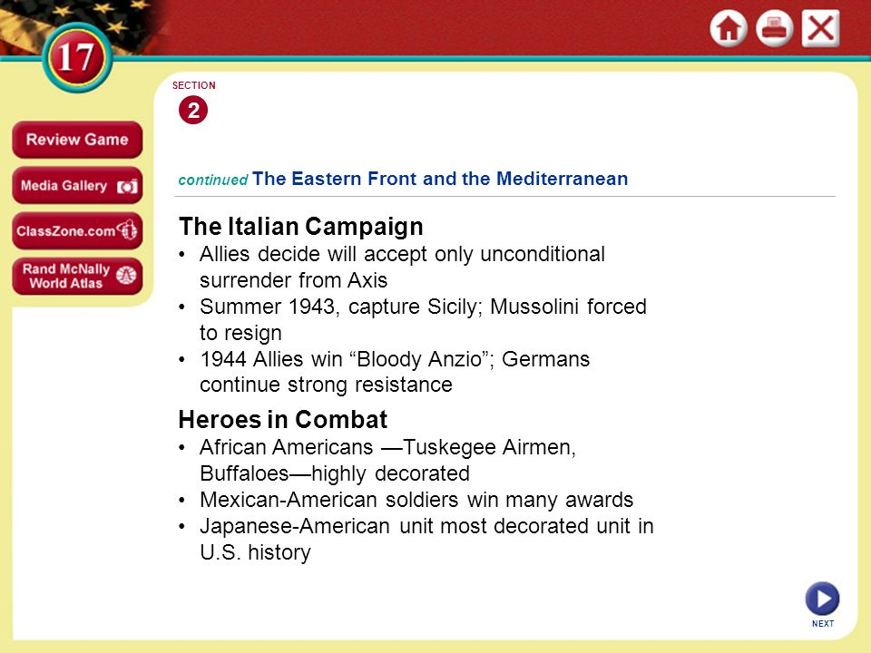 The Italian Campaign Heroes in Combat 2