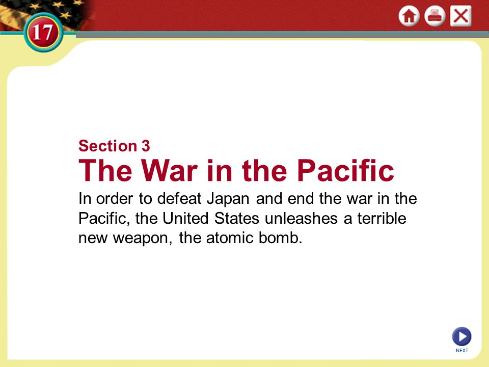The War in the Pacific Section 3