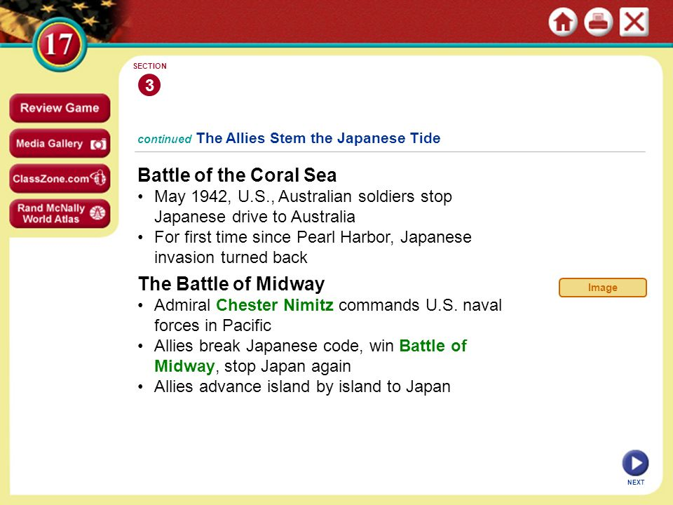 Battle of the Coral Sea The Battle of Midway 3