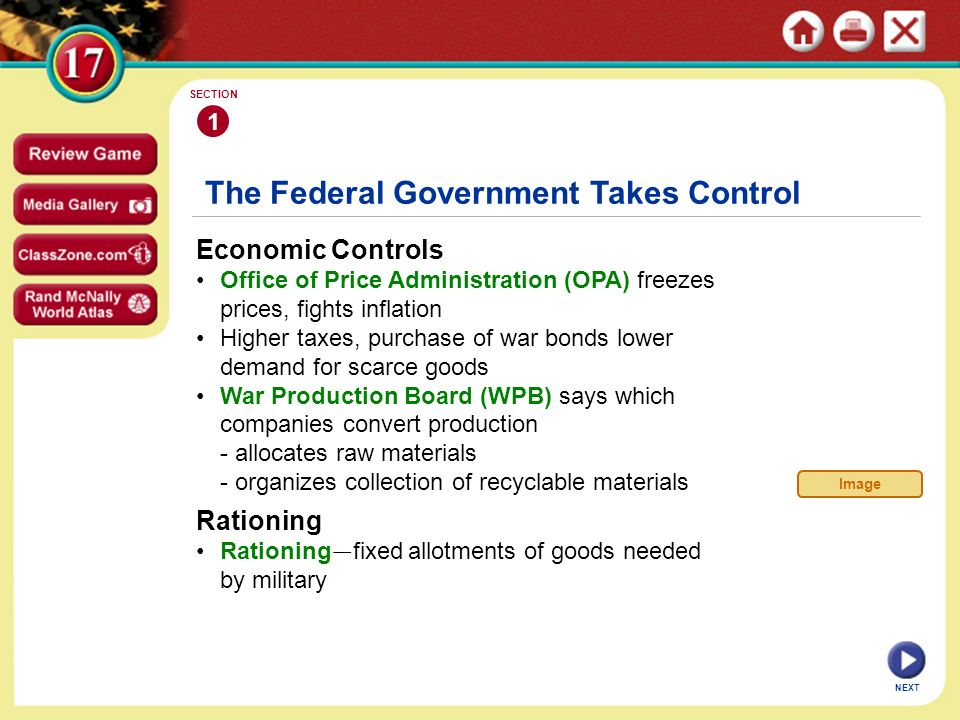 The Federal Government Takes Control