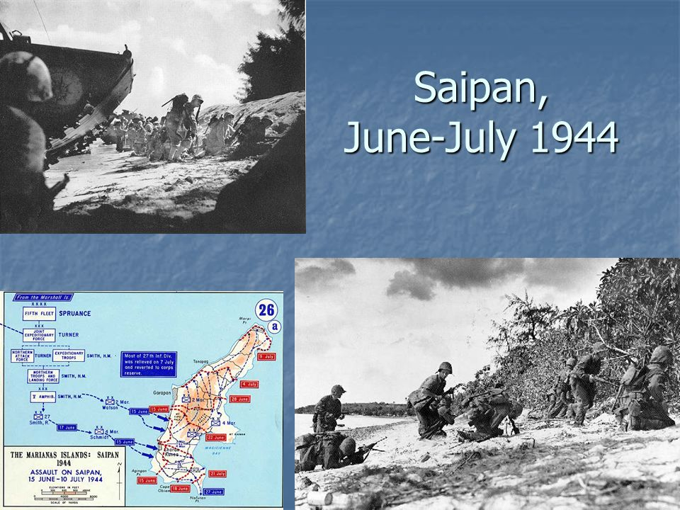 Saipan, June-July 1944 Saipan casualties: