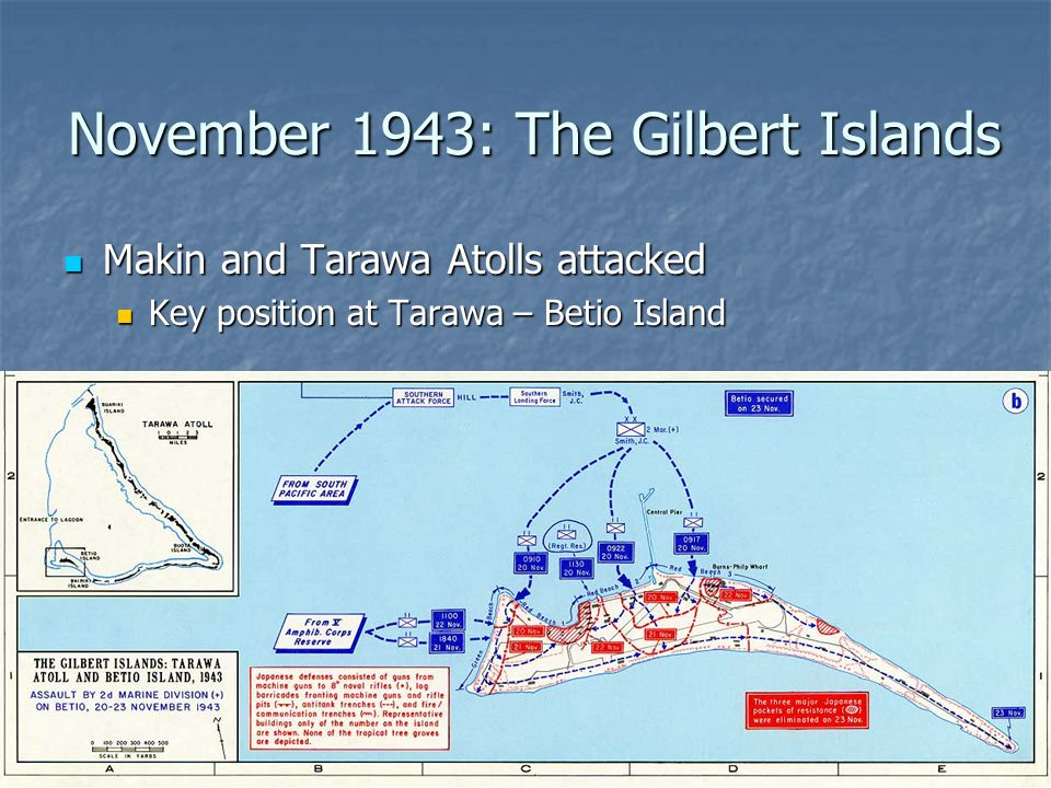 November 1943: The Gilbert Islands