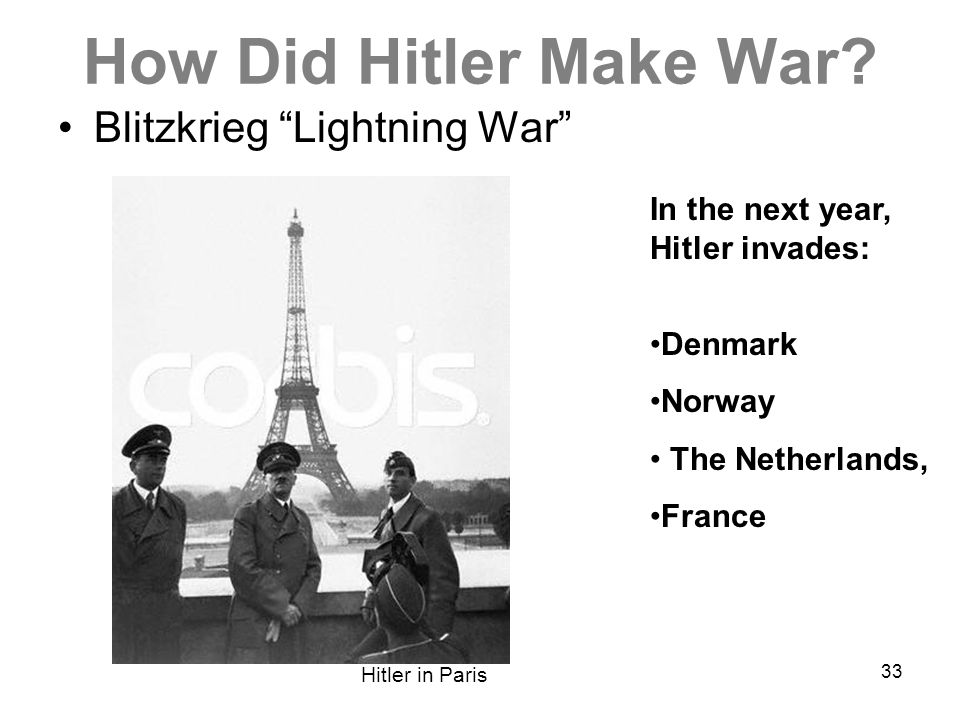 How Did Hitler Make War Blitzkrieg Lightning War