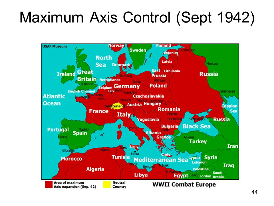 Maximum Axis Control (Sept 1942)