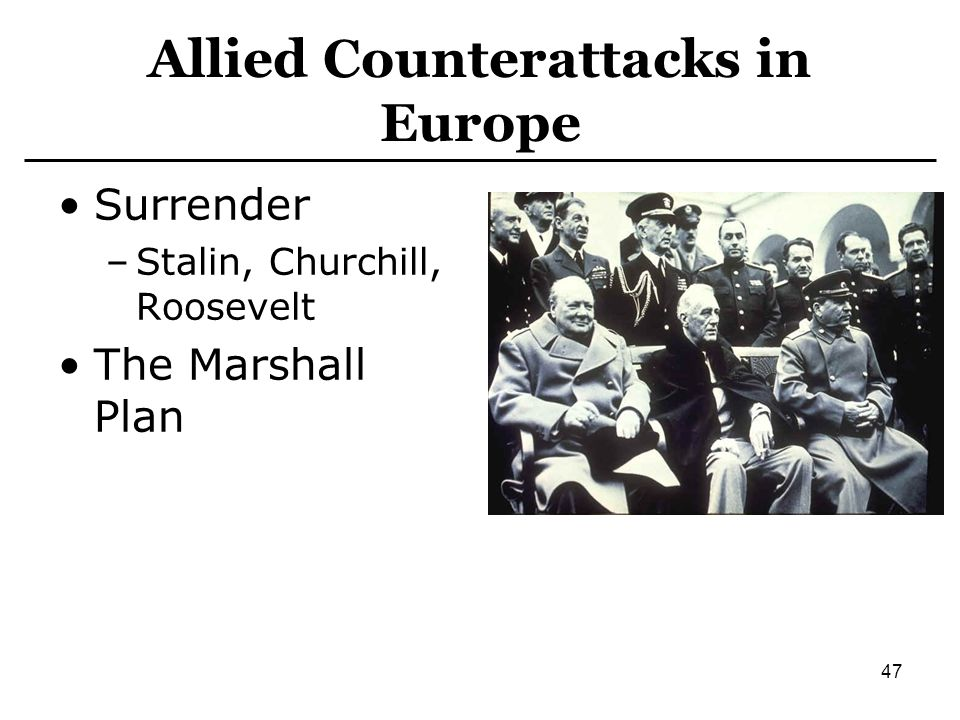 Allied Counterattacks in Europe