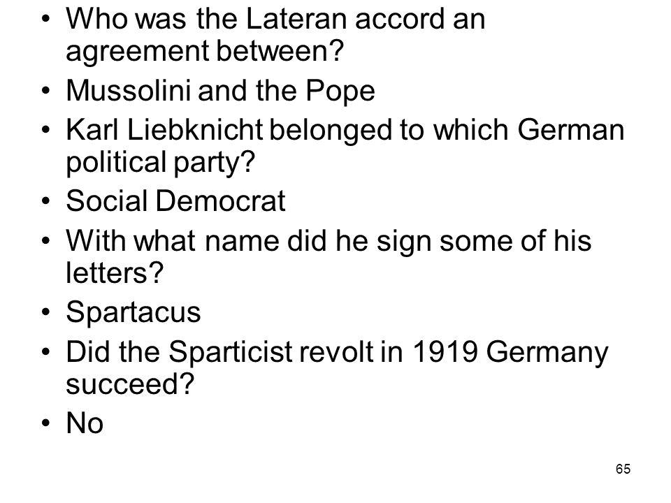 Who was the Lateran accord an agreement between