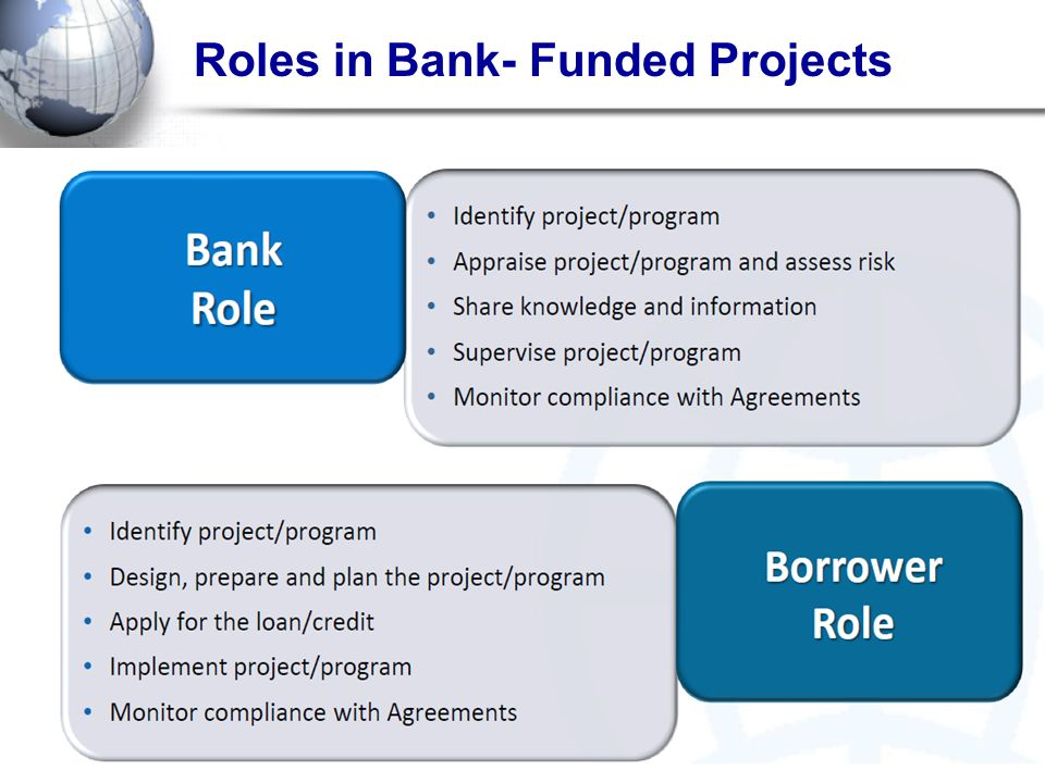 Roles in Bank- Funded Projects
