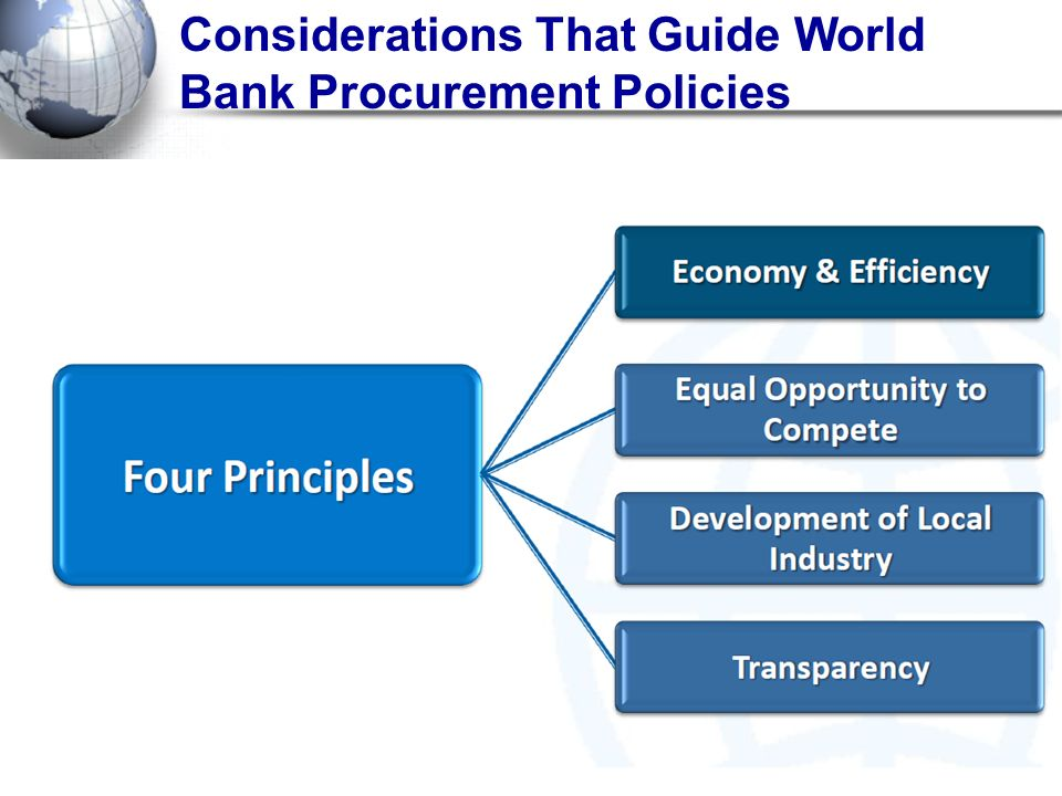Considerations That Guide World Bank Procurement Policies