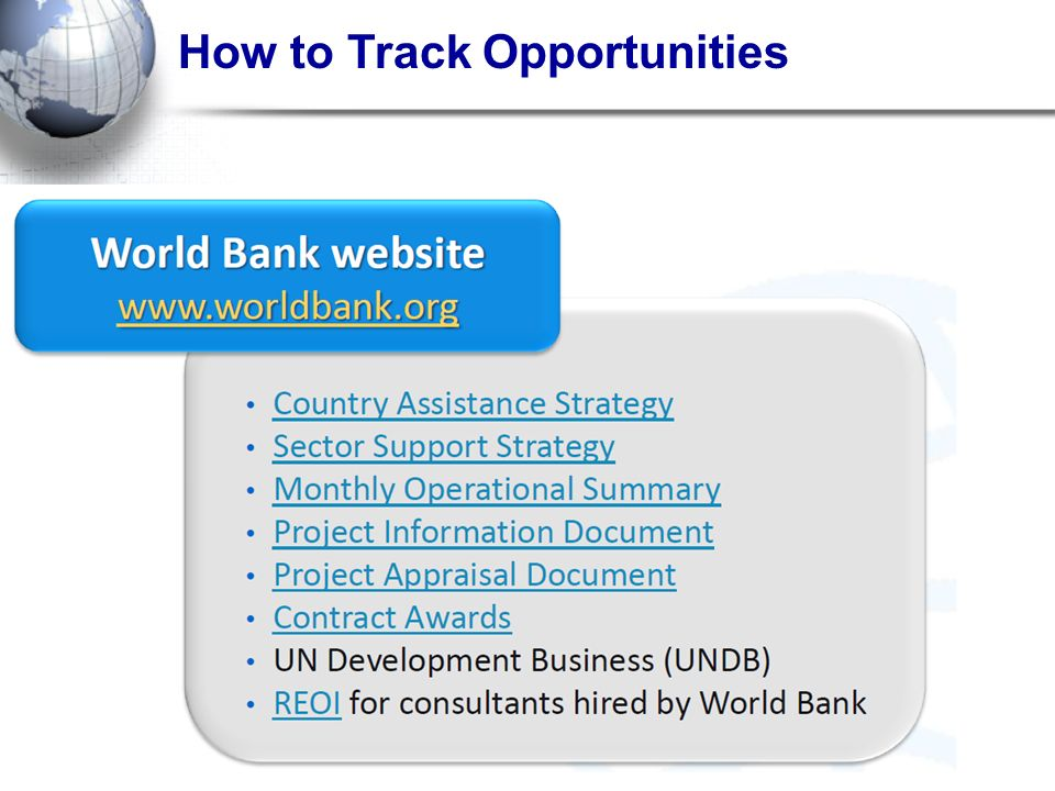 How to Track Opportunities