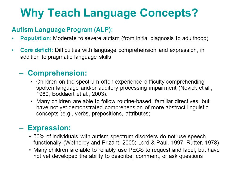 Why Teach Language Concepts