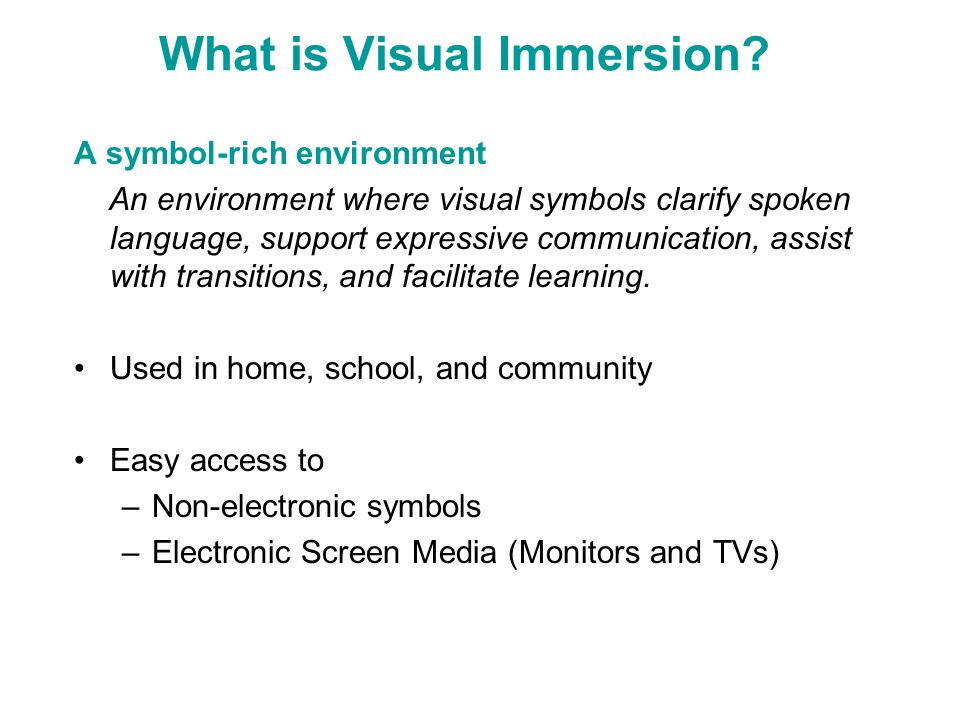 What is Visual Immersion