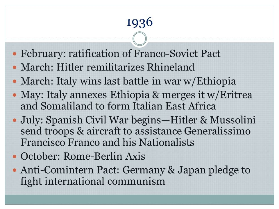 1936 February: ratification of Franco-Soviet Pact