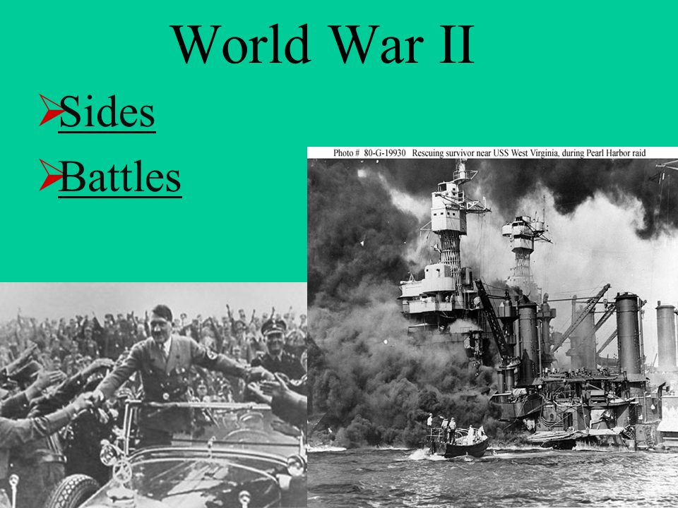 World War II Sides Battles
