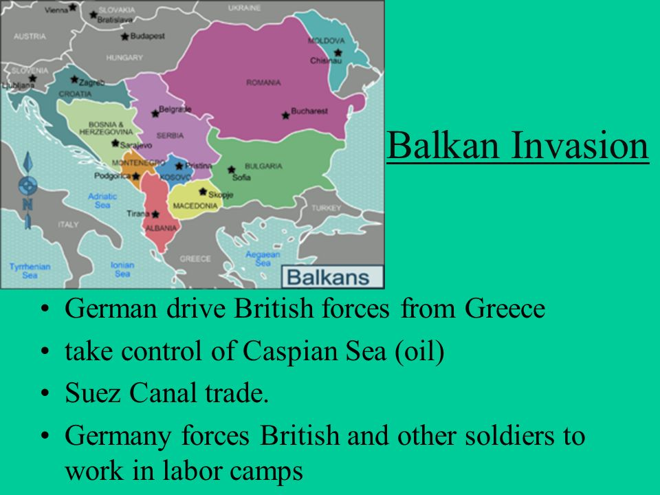 Balkan Invasion German drive British forces from Greece