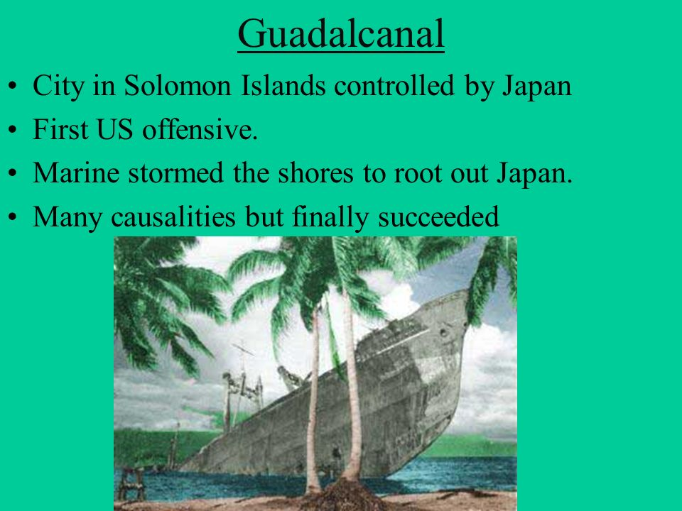 Guadalcanal City in Solomon Islands controlled by Japan