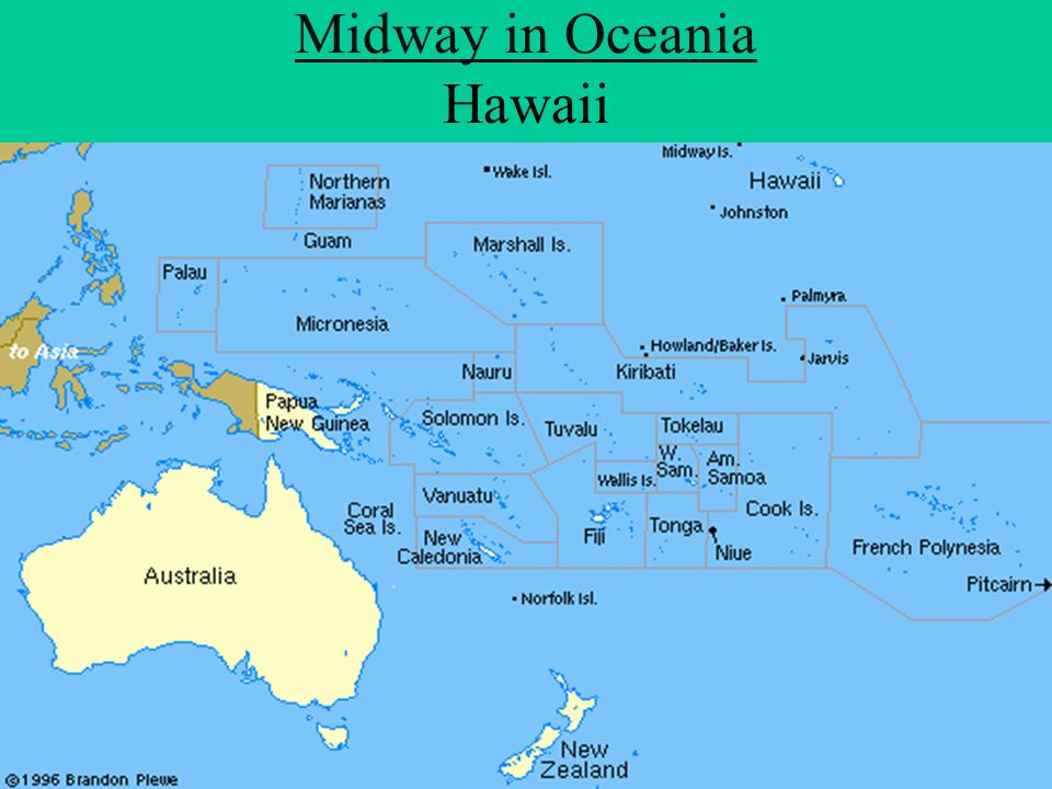 Midway in Oceania Hawaii