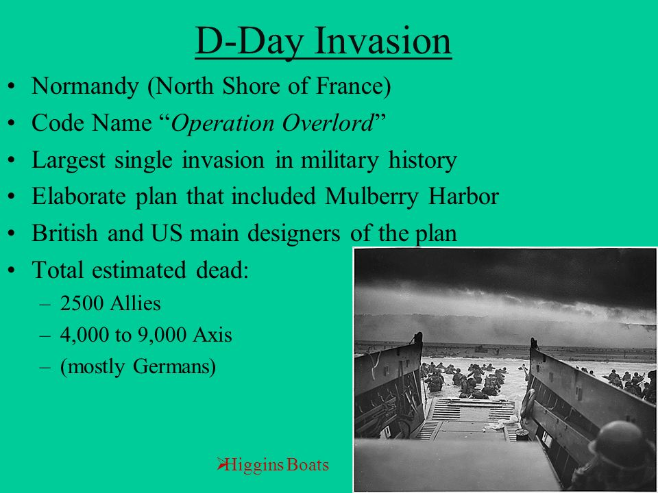 D-Day Invasion Normandy (North Shore of France)