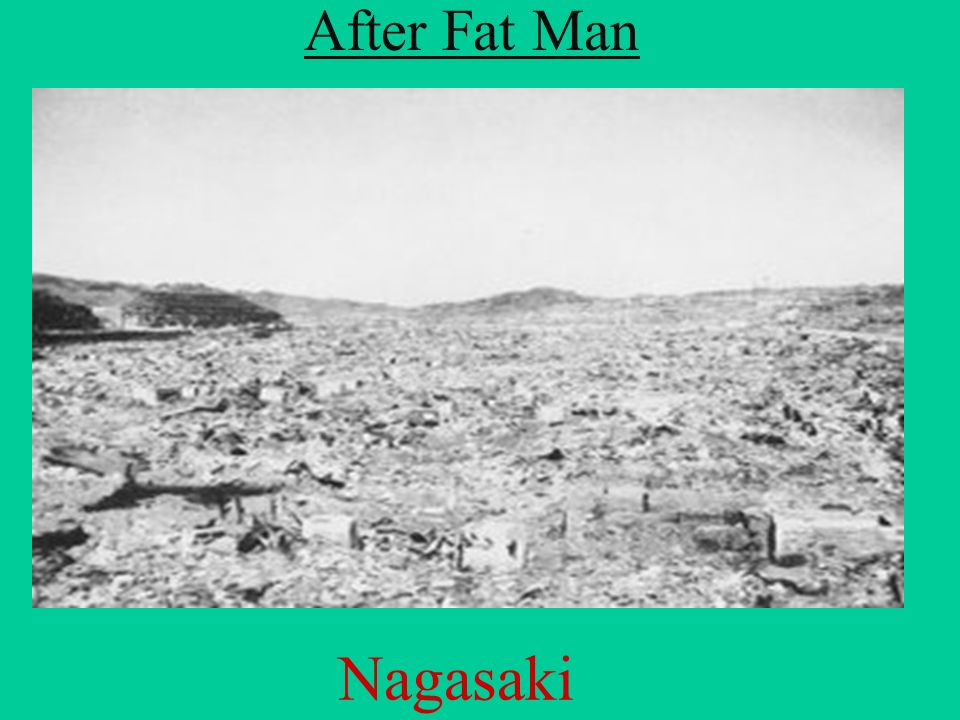 After Fat Man Nagasaki