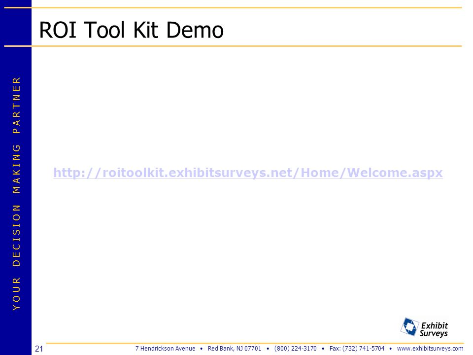 ROI Tool Kit Demo