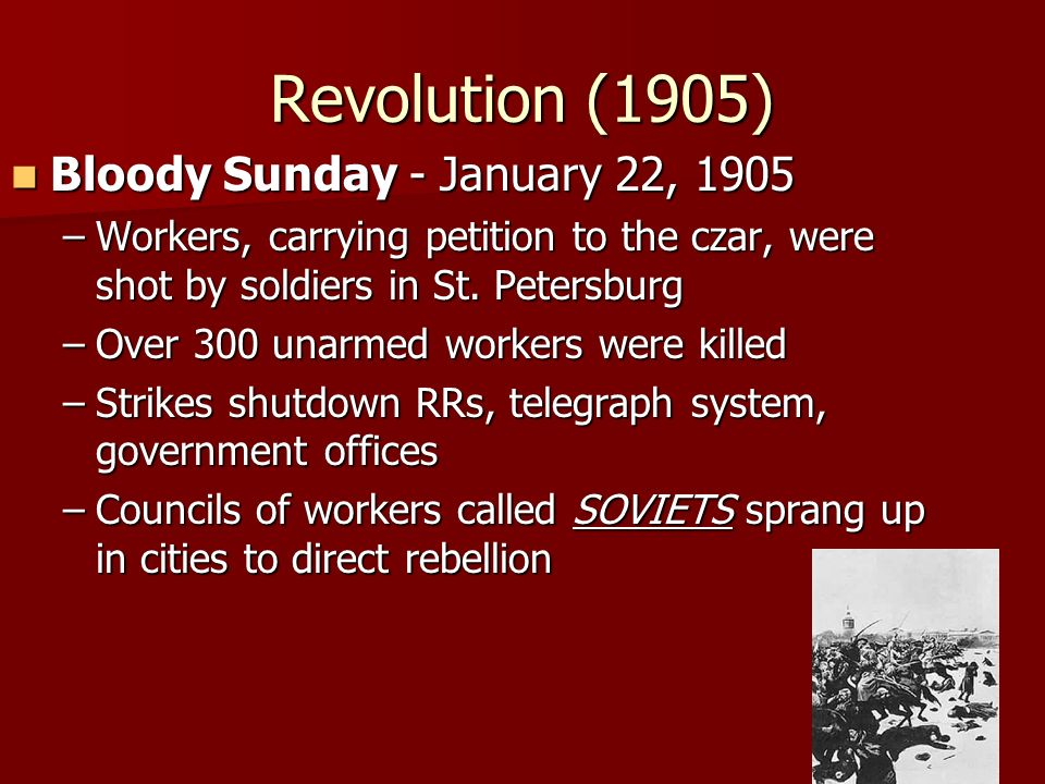 Revolution (1905) Bloody Sunday - January 22, 1905