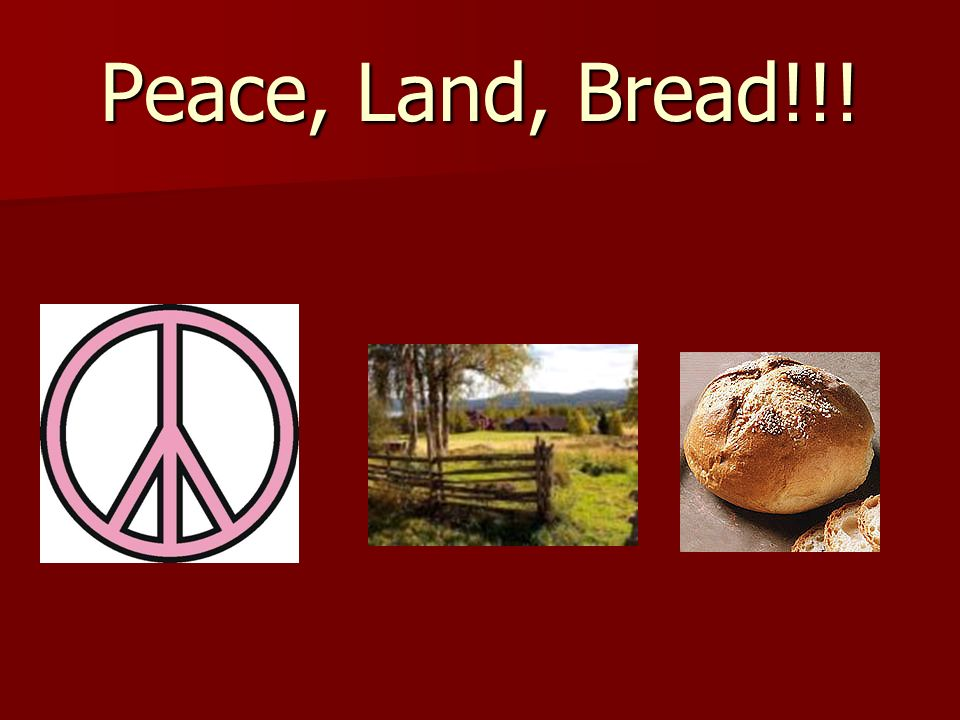 Peace, Land, Bread!!!