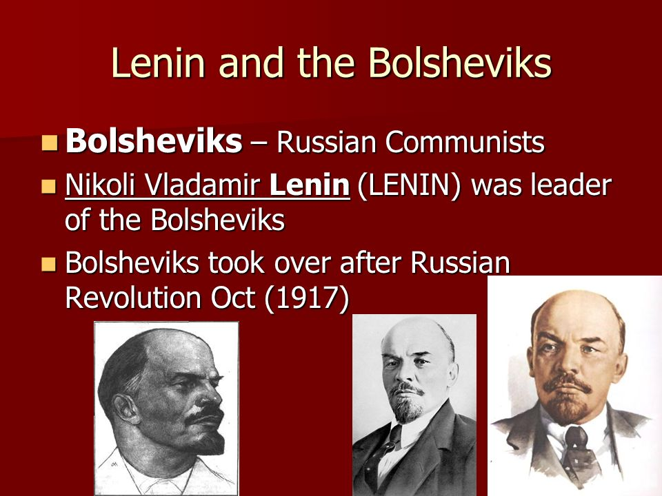 Lenin and the Bolsheviks