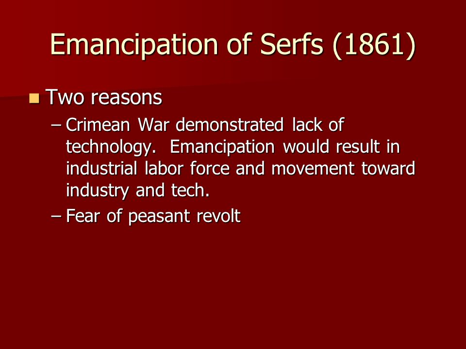 Emancipation of Serfs (1861)
