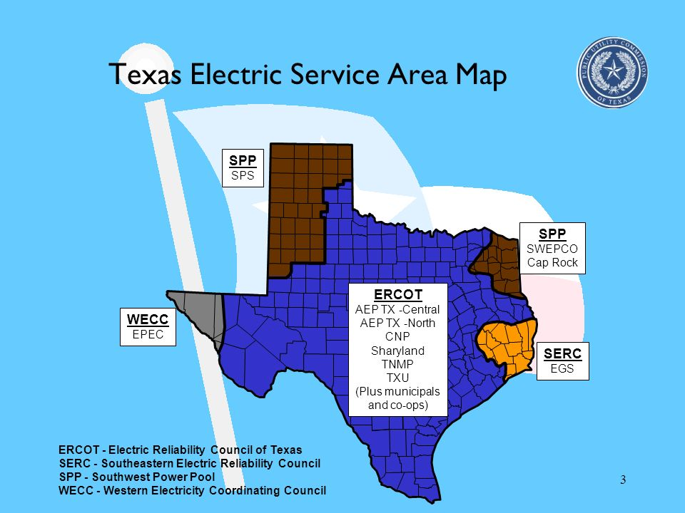 Texas Electric Service Area Map