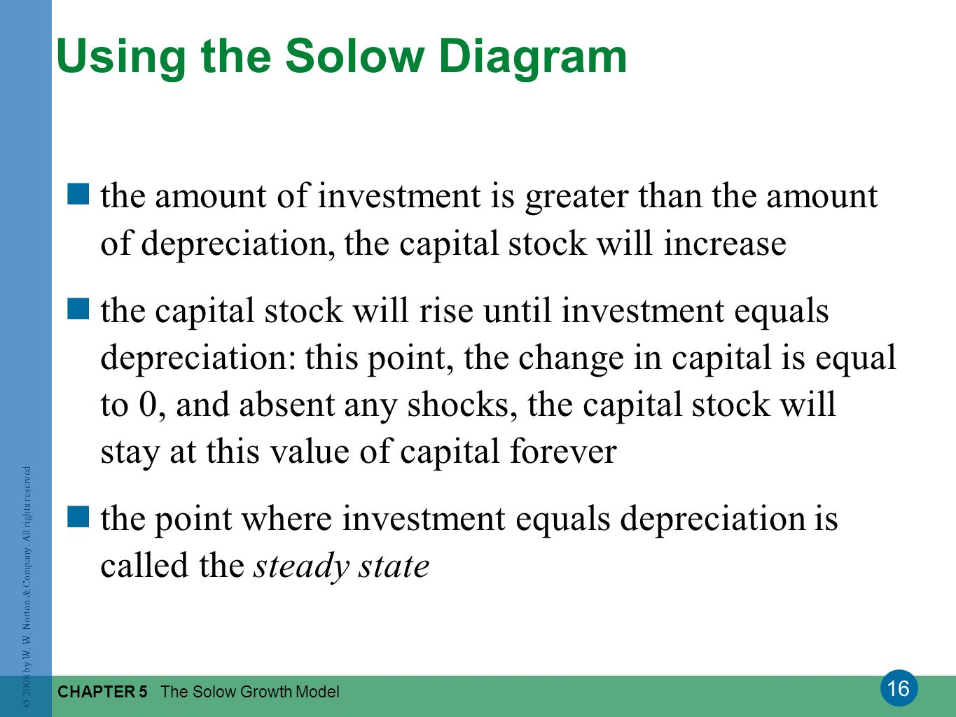 Using the Solow Diagram