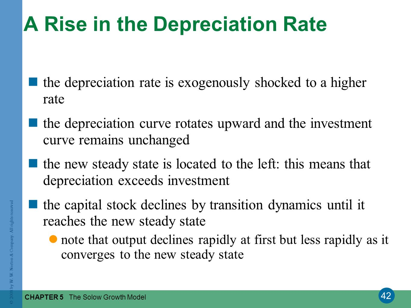 A Rise in the Depreciation Rate